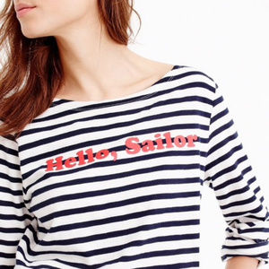 J. Crew Striped Hello Sailor Soft Cotton Tee